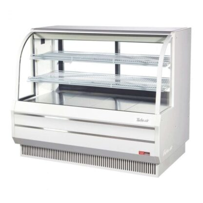 """Turbo Air TCGB-60DR 60"""" Curved Glass Dry Bakery Case"""