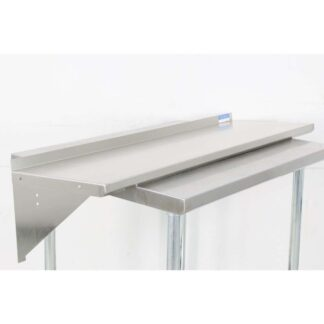 "BK Resources BKWS-1648 16'' x 48"" Stainless Steel Wall Shelf pre-653516"